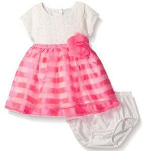 The Children's Place Baby Short Sleeve Lace Dress